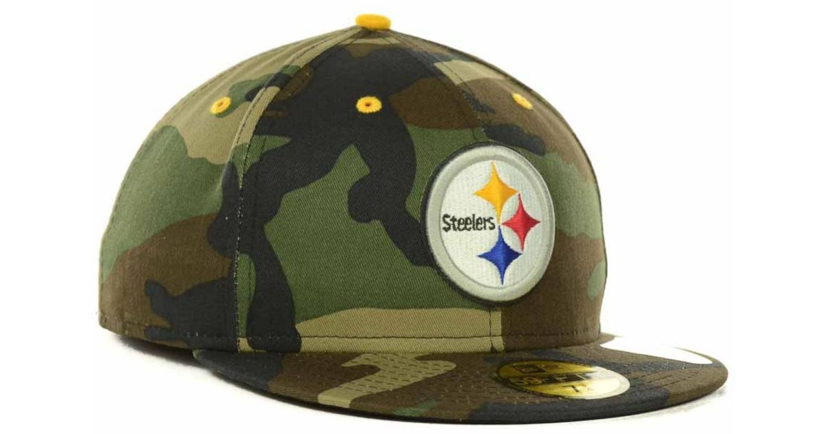 1570a4cdd670d Lyst - KTZ Pittsburgh Steelers Camo Pop 59Fifty Cap in Green for Men