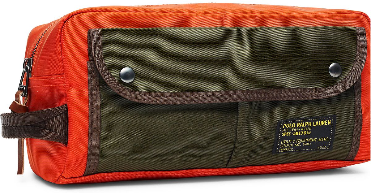 Lyst - Polo Ralph Lauren Nylon Shaving Kit in Orange for Men 9c475d4d2e49a