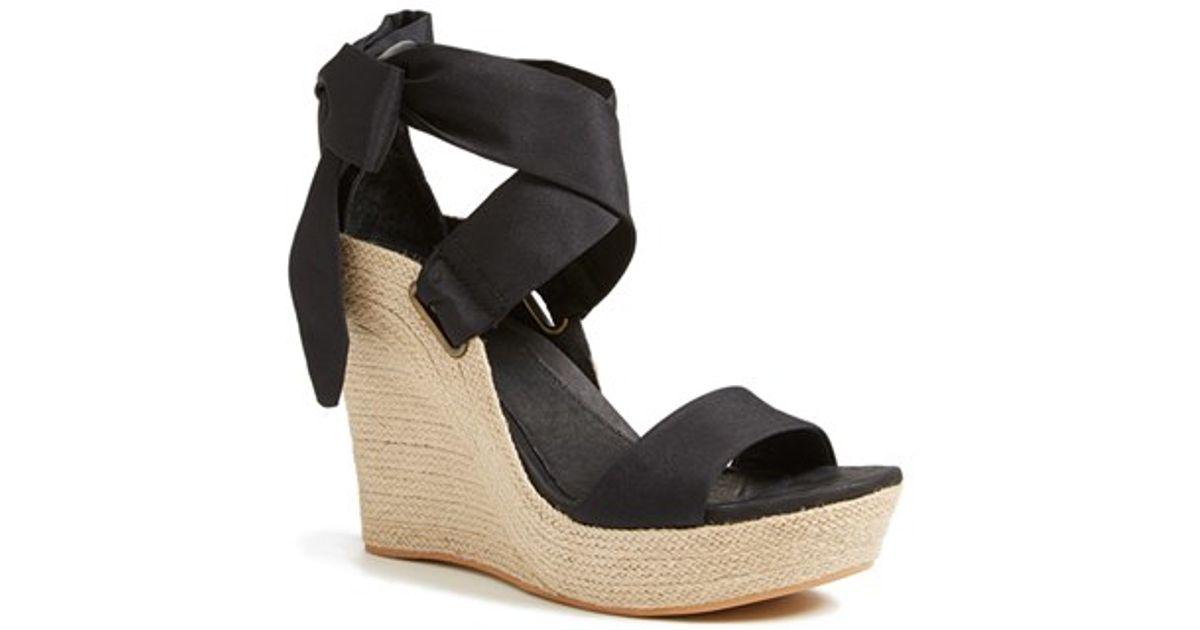 8bda0dc04b UGG Ugg 'jules' Platform Wedge Sandal in Black - Lyst