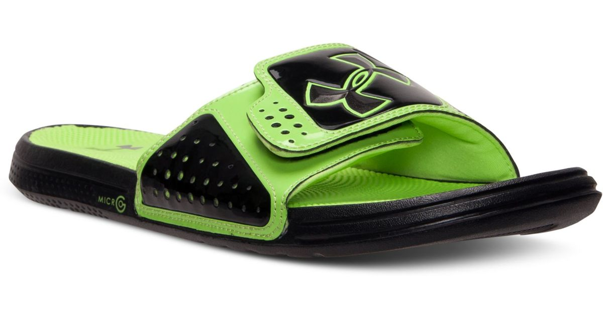 Under Armour Mens Micro G Ev Slide Sandals From Finish
