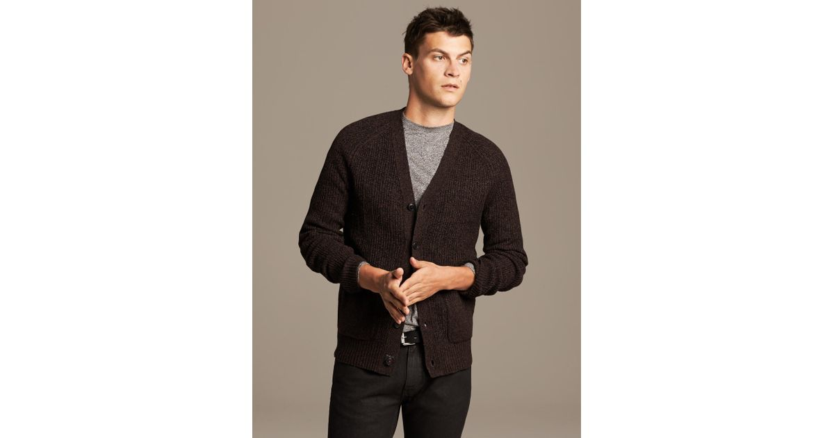 5f82d385e8e Lyst - Banana Republic Heritage Marled Brown Cardigan in Brown for Men