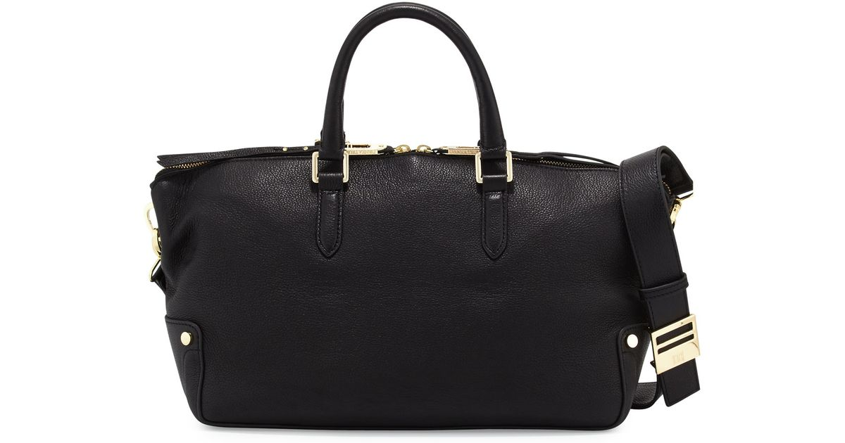 b34b92c4d6 Lyst - Ivanka Trump Charlotte Leather Satchel Bag in Black