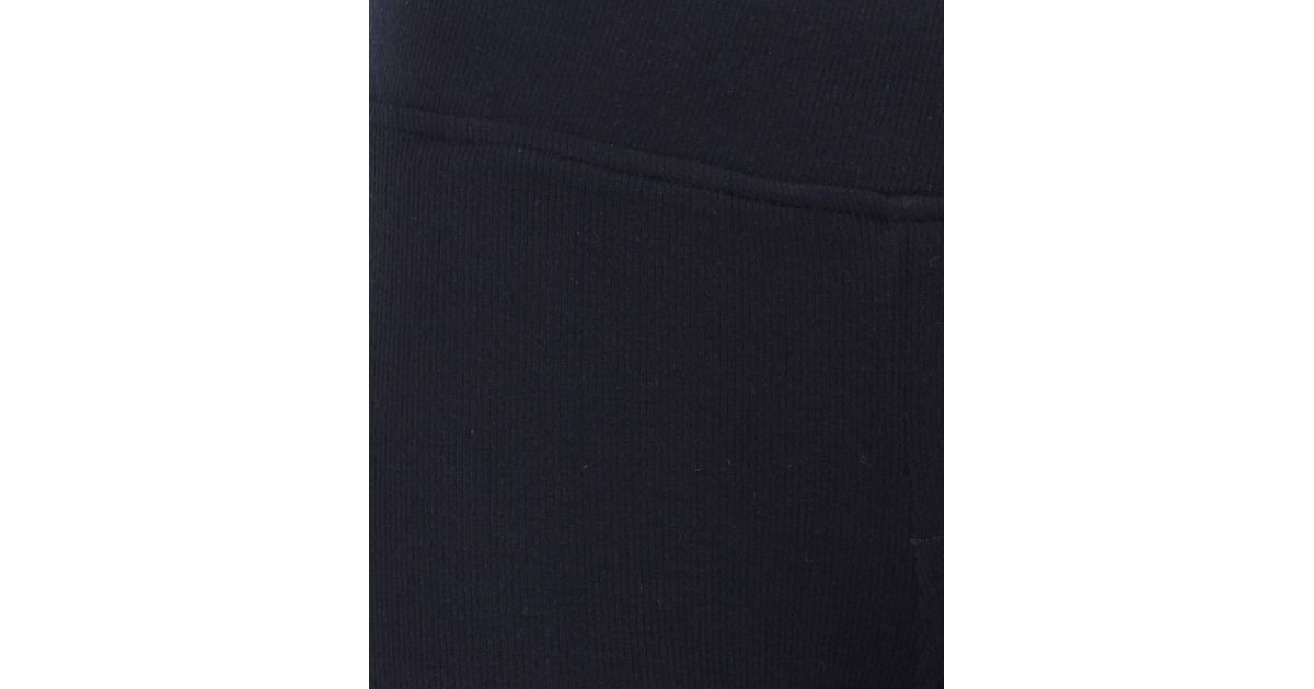 f948fb1ed2584 ATM Black Rib Texture Modal-Blend Leggings in Black - Lyst