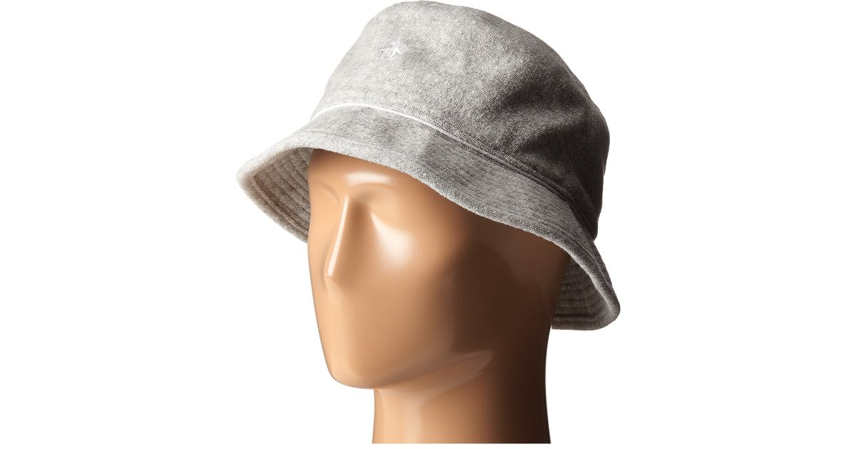 Lyst - Original Penguin Terry Cloth Bucket Hat in Gray for Men 8a3445acbc2