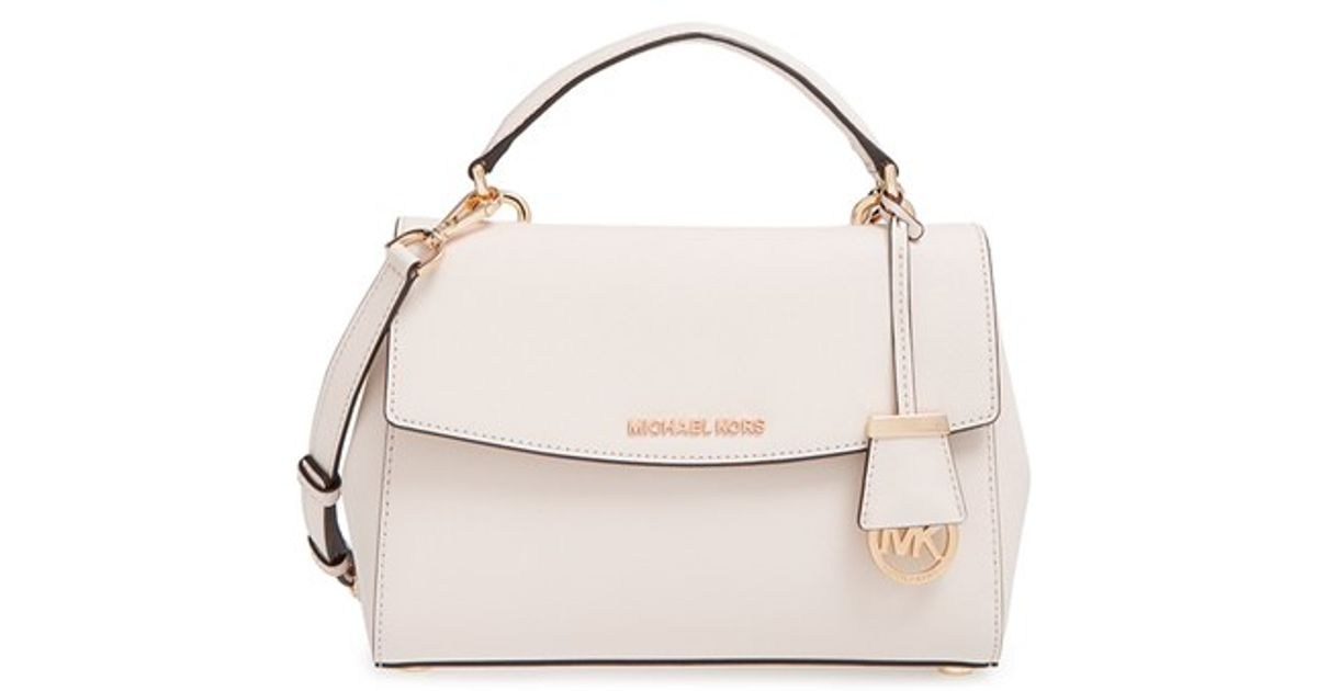 51395100471f Lyst - MICHAEL Michael Kors Ava Small Leather Bag in Pink
