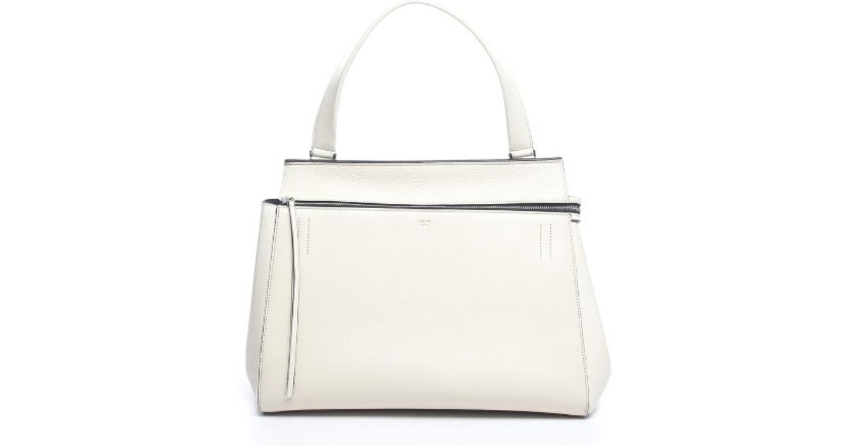 celine grey leather handbag blade