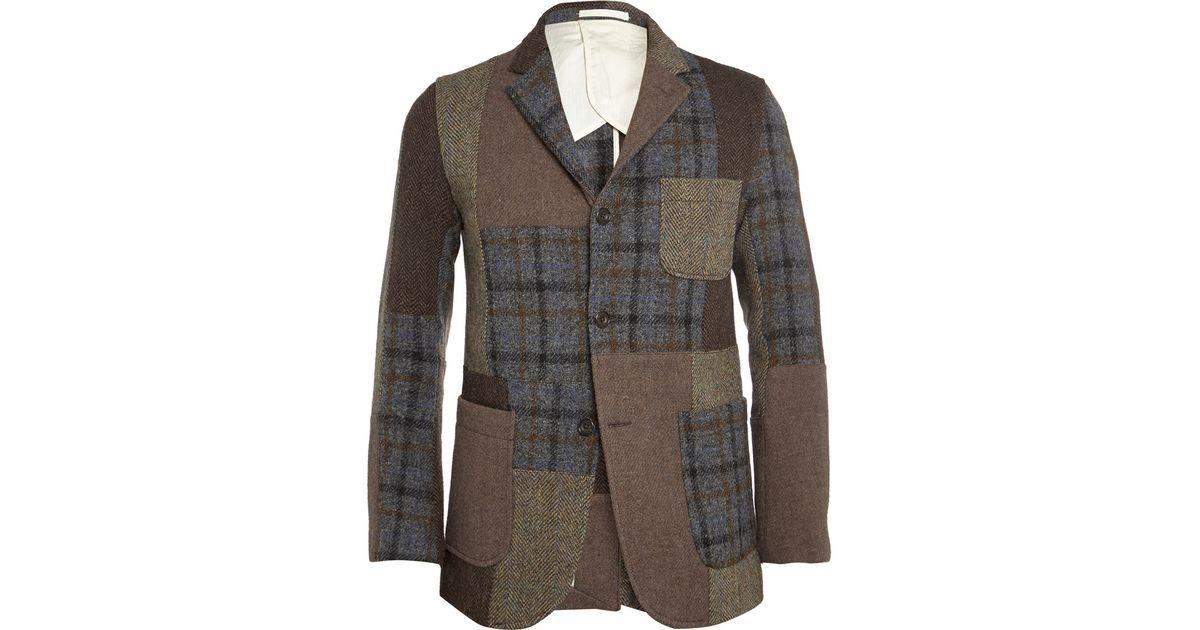 27f18331ff63 Lyst - Beams Plus Patchwork Harris Tweed Jacket in Brown for Men