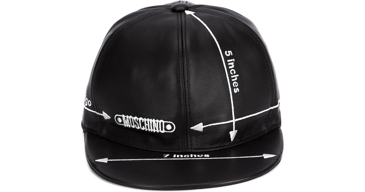 Moschino Embroidered Measurements Cap in Black - Lyst 30c14e3f8514