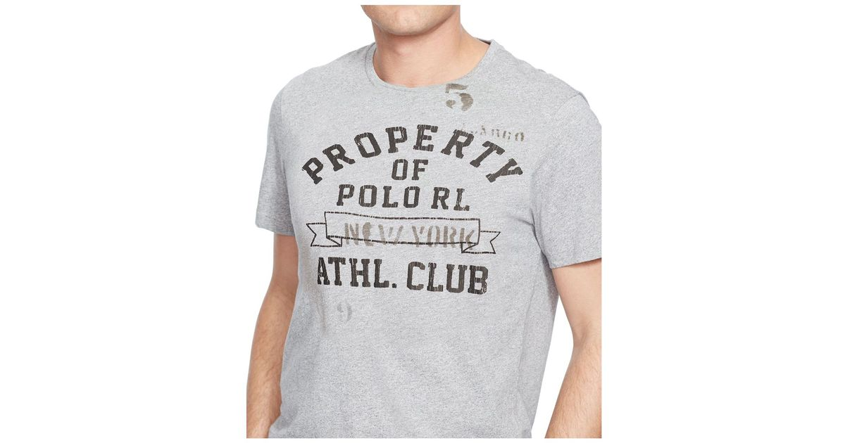 Polo Ralph Lauren Big And Tall Athletic Club T Shirt In