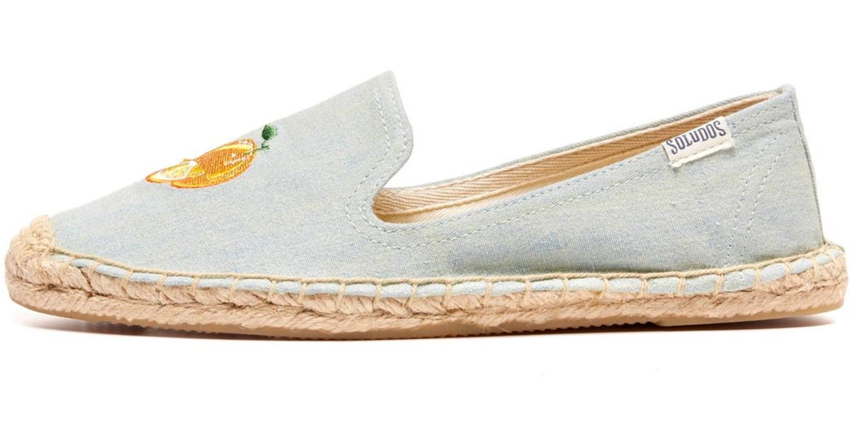 212126e9495 Soludos Smoking Slipper Embroidery in Yellow - Lyst