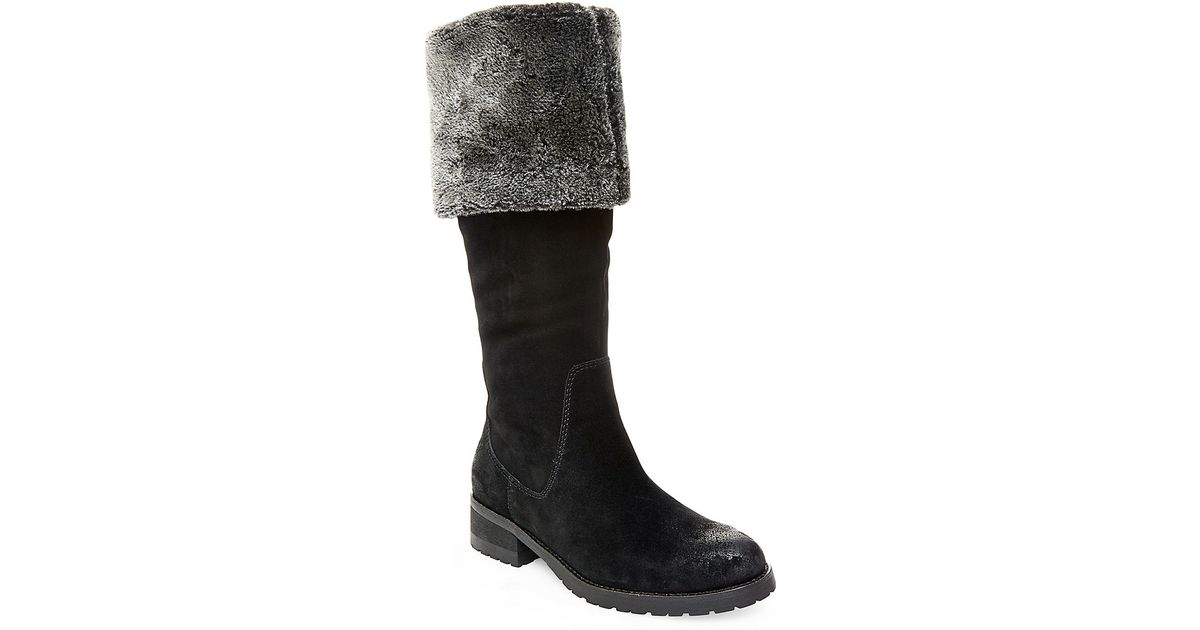 steven by steve madden chille faux fur lined suede boots