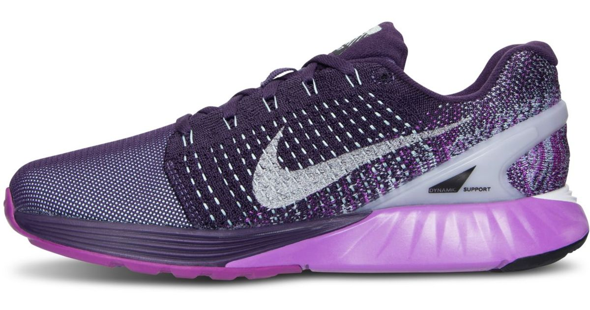 quality design dee45 dd6f5 ... denmark lyst nike womens lunarglide 7 flash running sneakers from  finish line in purple e7776 4b1e4