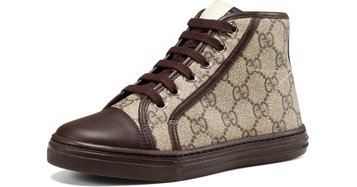 Gucci Sneaker Haut Sommet Suprême - Brun mHSmnR