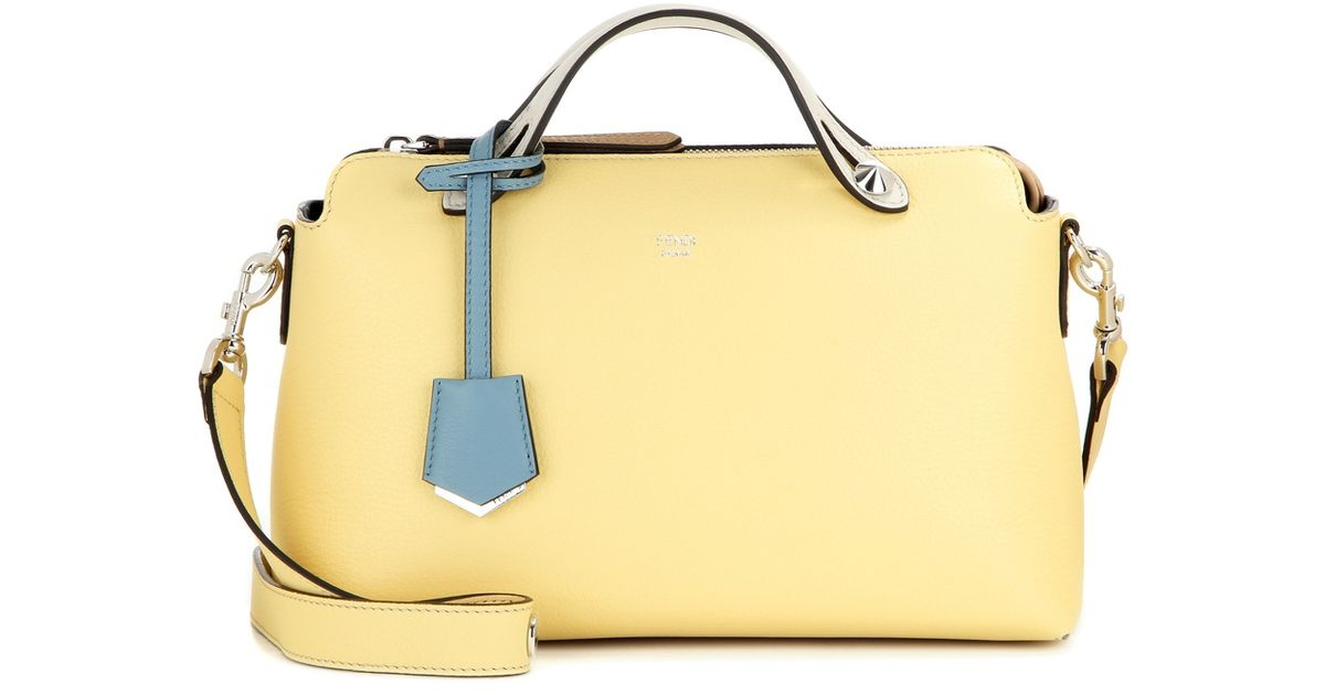 0b3e38722f9c Lyst - Fendi Yellow And Camel Leather  by The Way  Convertible Shoulder Bag  in Natural