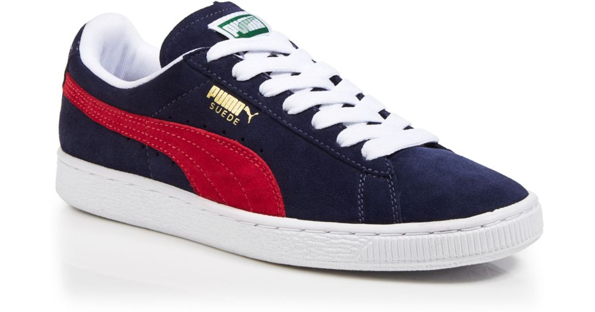 99a42511a4f PUMA Lace Up Sneakers - Suede Classic in Blue - Lyst