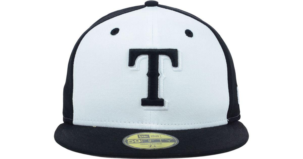 ... new zealand lyst ktz texas rangers mlb high heat 59fifty cap in black  for men b6bbb ... 0561895d8b4f
