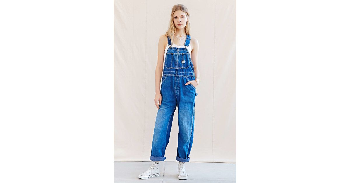 34d60df38d Lyst - Urban Renewal Recycled Workwear Overall in Blue