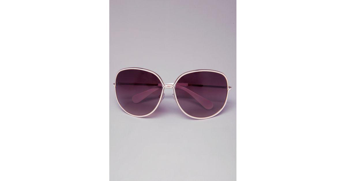 7ebe833fac Lyst - Bebe Dalia Sunglasses in White