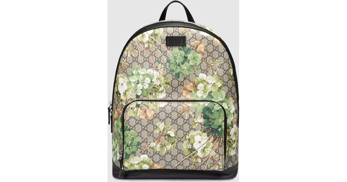Gucci Gg Blooms Backpack in Green for Men - Lyst 92f77a8e51