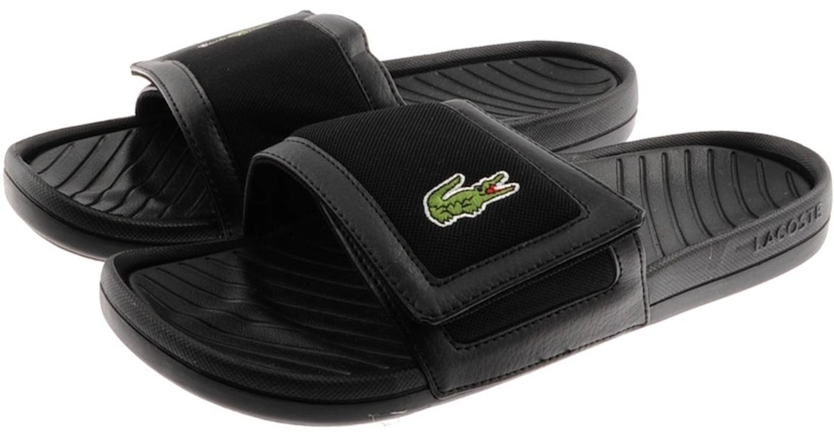 250bf4dcb Lyst - Lacoste Fynton Spm Flip Flops in Black for Men
