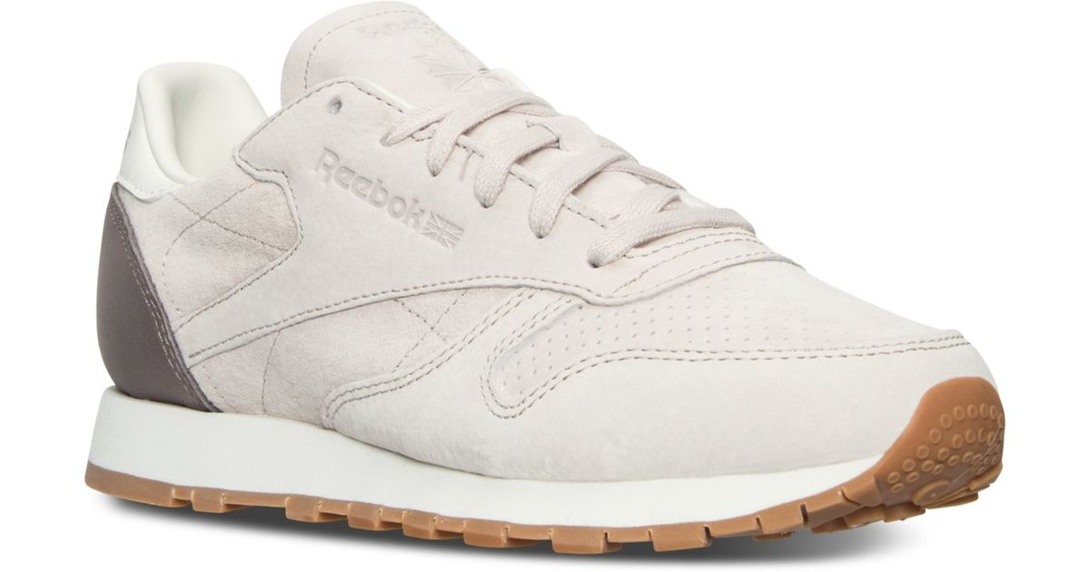 b30fc8e3073b Lyst - Reebok Women s Classic Bread And Butter Casual Sneakers From Finish  Line in White