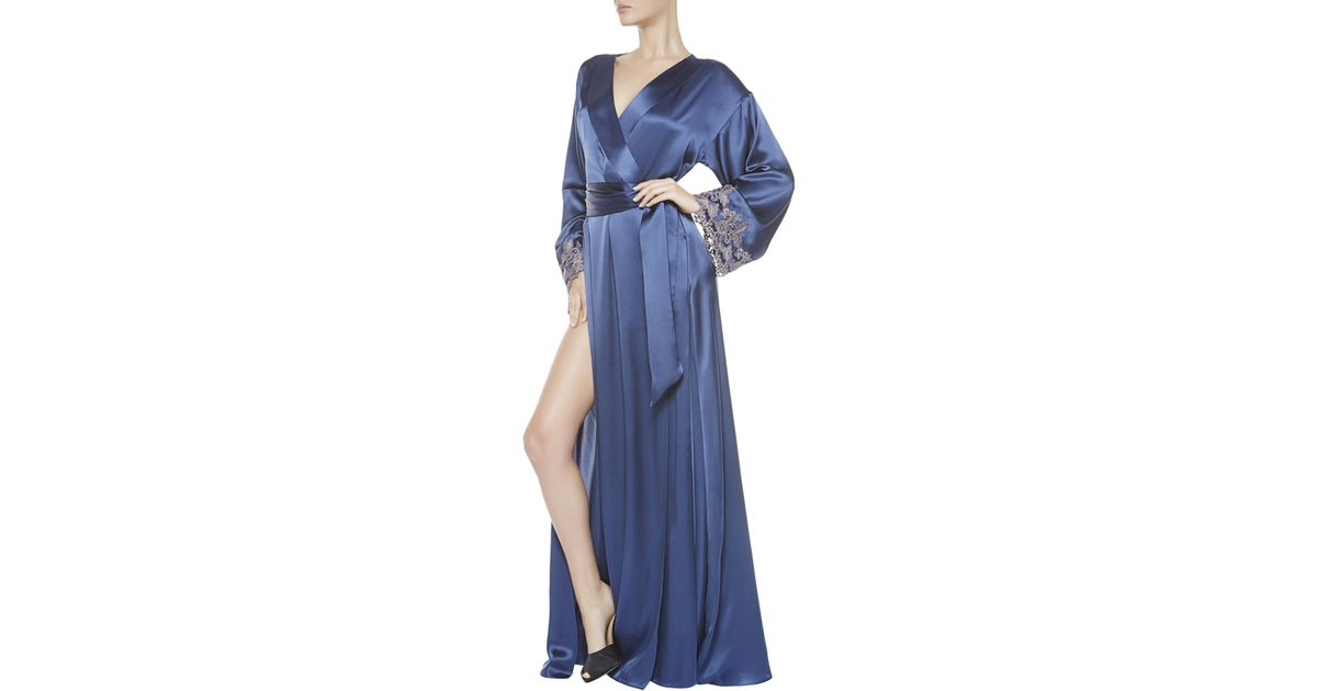la perla maison robe in blue lyst