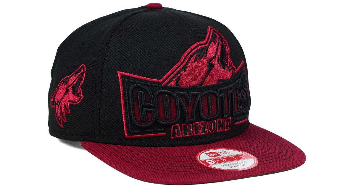 sports shoes 974f4 9f687 Lyst - KTZ Arizona Coyotes Grader 9fifty Snapback Cap in Black for Men