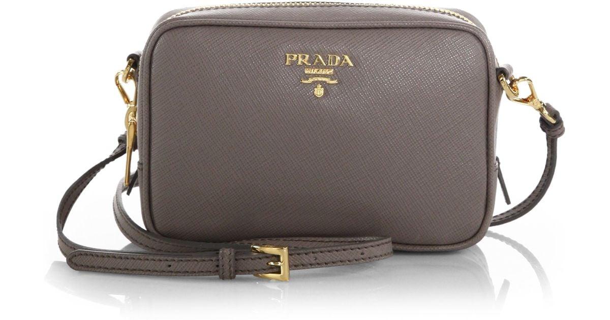 Womens City Leather Camera Bag Prada PHzF7V