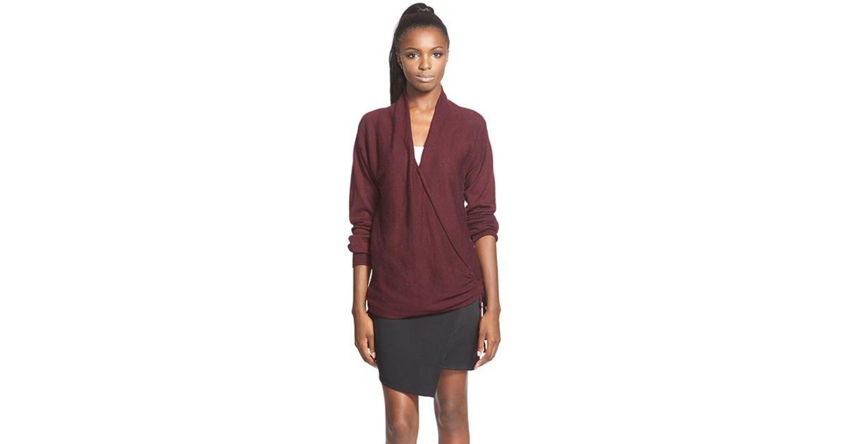 85f102321 Lyst - Leith Side Tie Wrap Sweater in Purple