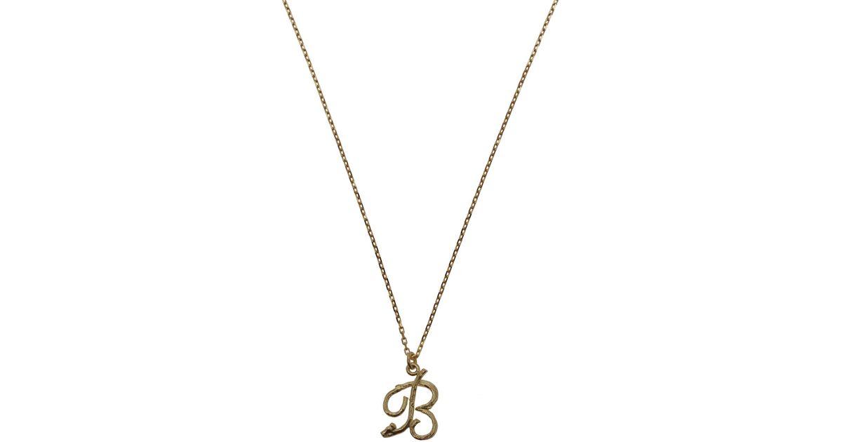 alex monroe metallic gold letter b enchanted twig necklace lyst