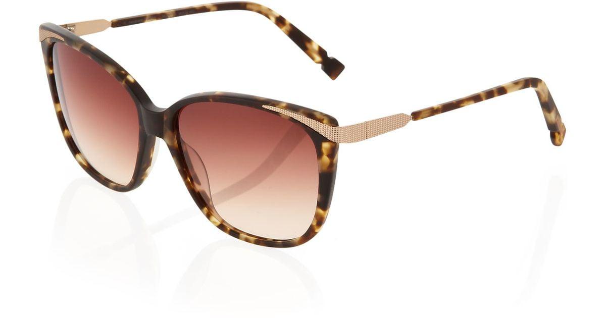 Jason wu Matte Square Sunglasses in Brown