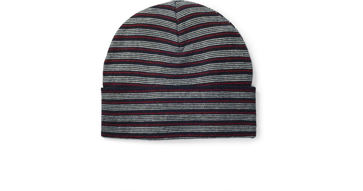 cd0c8fe92b8 Lyst - Polo Ralph Lauren Striped Cotton Hat in Blue for Men