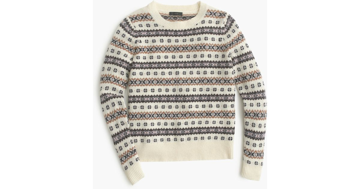 J.crew Fair Isle Crewneck Sweater | Lyst