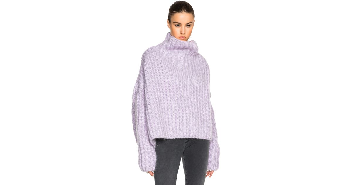 Acne studios Baylay Big Chunky Sweater in Purple | Lyst