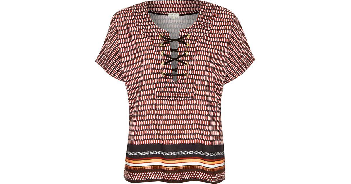 River Island Geometric T Shirt
