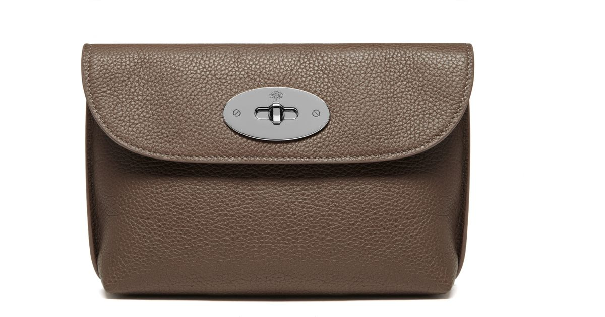7d9b5d8bc094 ... cheapest mulberry locked cosmetic purse in brown lyst 2eb07 cd99c