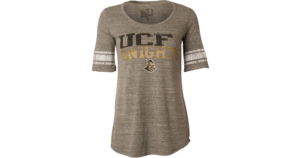 307c02285 Lyst - MYU Apparel Women'S Short-Sleeve Ucf Knights Sequin T-Shirt in Gray
