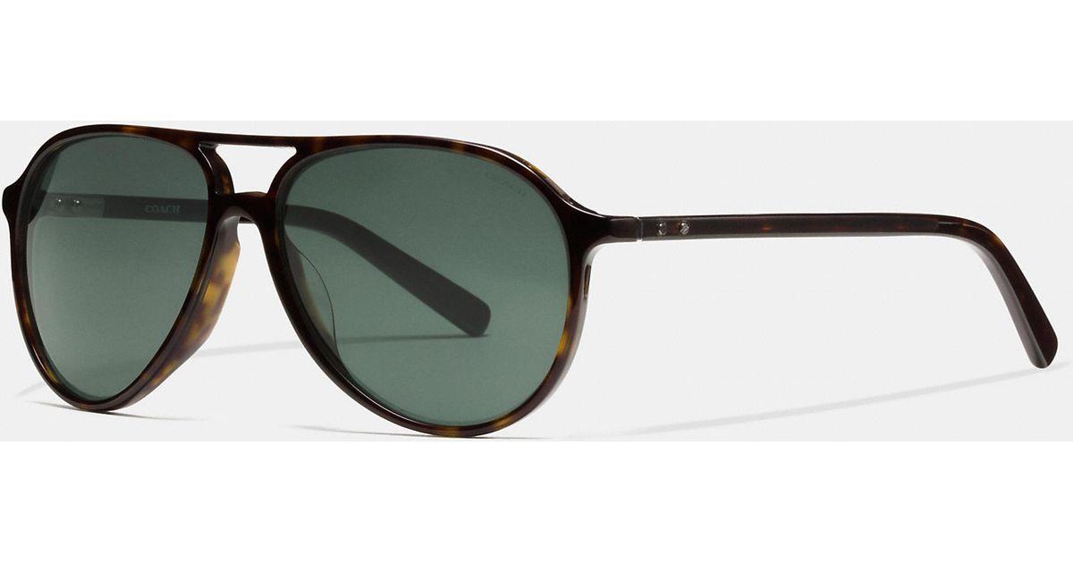 8176317a01 ... get lyst coach sutton sunglasses in brown for men 9c680 ede99