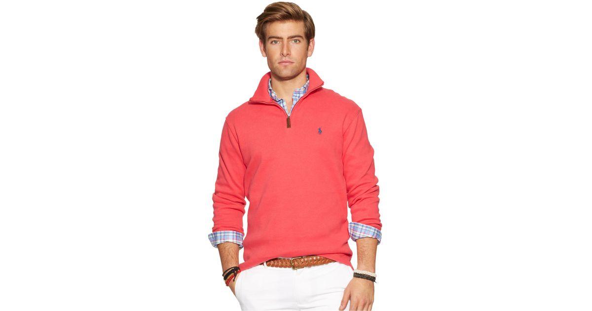Polo Ralph Lauren Pink French-Rib Full-Zip Hoodie Men