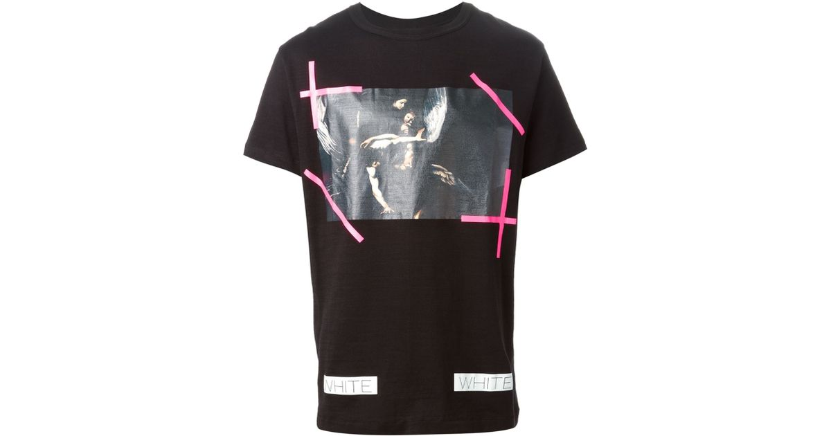 9757a8aa84 Off-White c/o Virgil Abloh Caravaggio-Print T-Shirt in Black for Men - Lyst