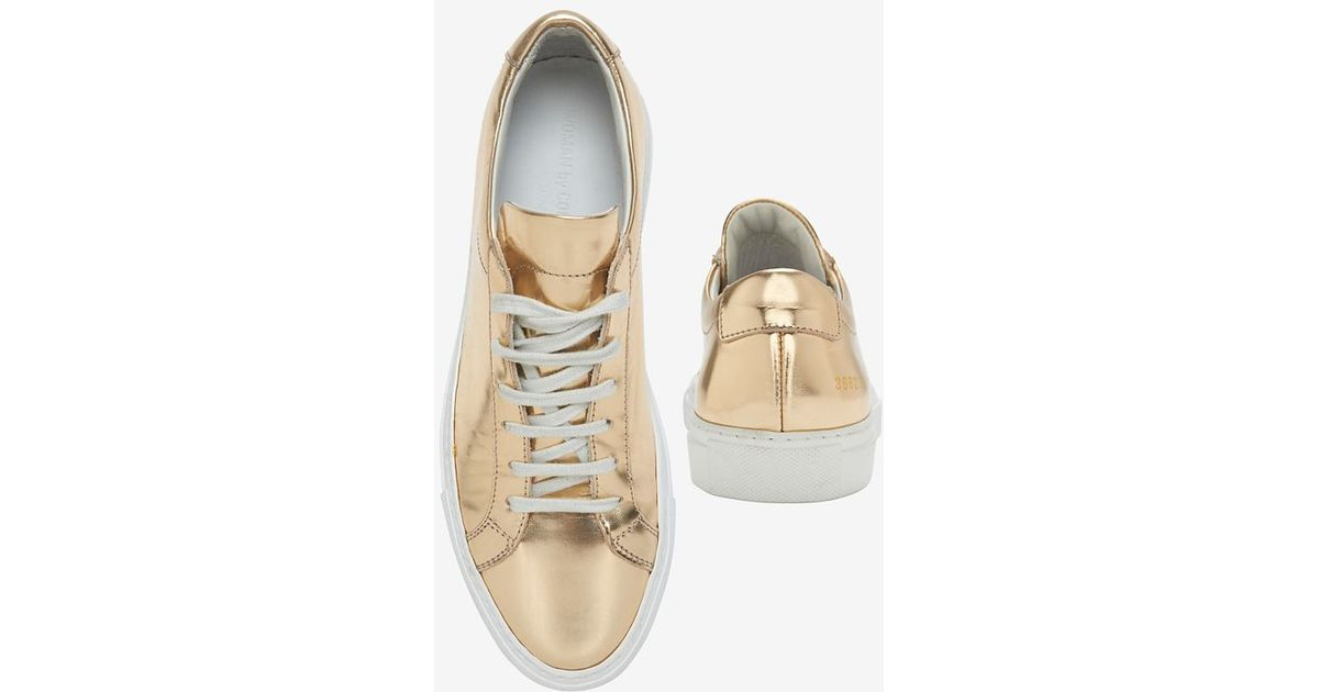 d1163513ed71 Common Projects Achilles Lace-Up Sneaker: Copper in Metallic - Lyst