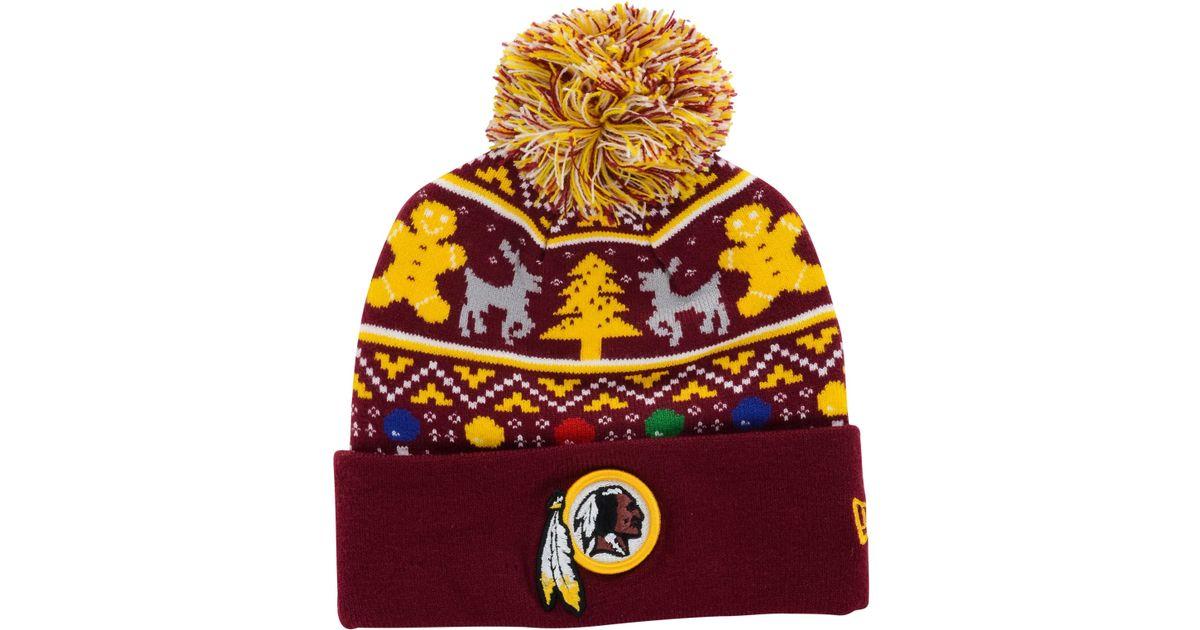 Lyst - KTZ Washington Redskins Christmas Sweater Pom Knit Hat in Purple for  Men d39da0bd0