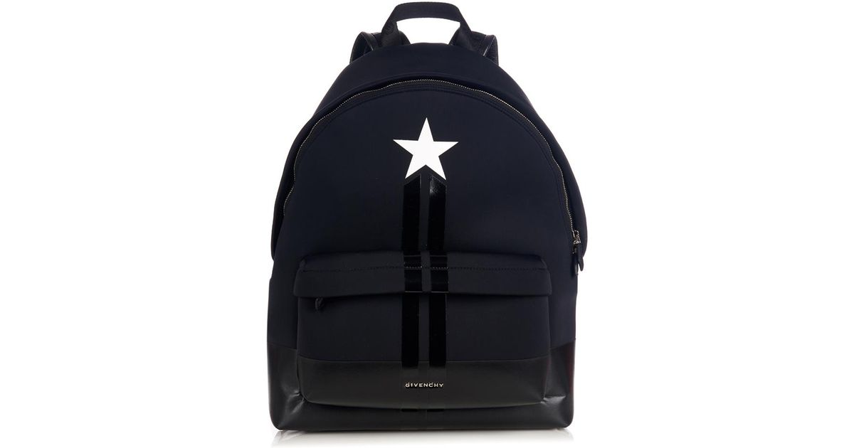 Lyst - Givenchy Star And Stripes Neoprene Backpack in Black for Men cffaea4467b91