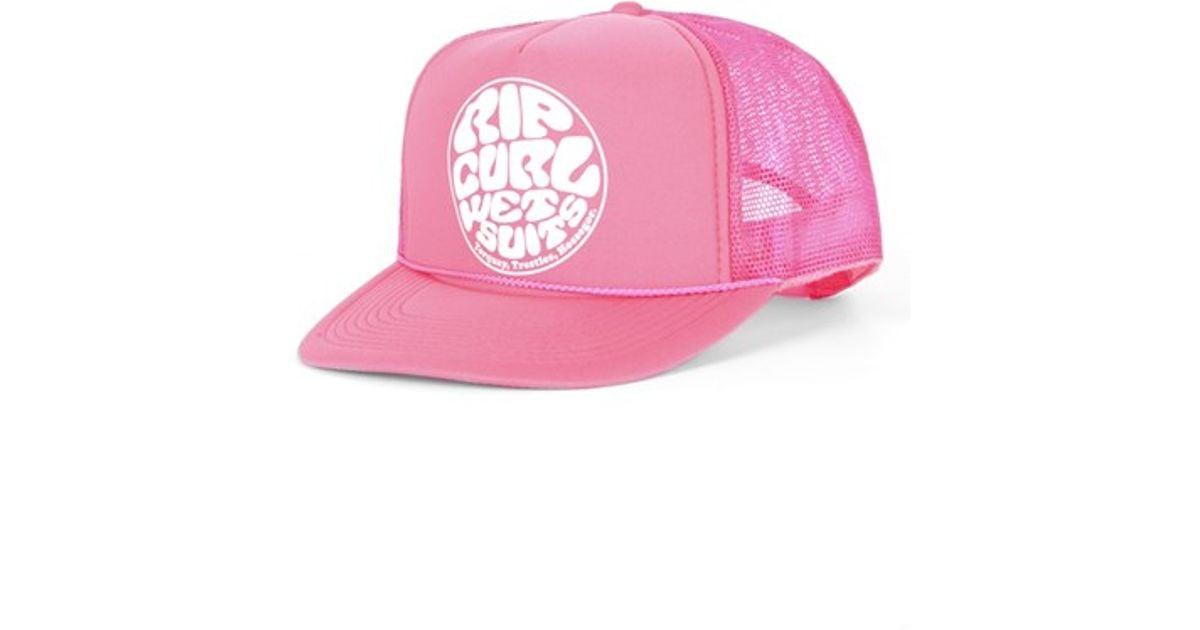 d14c73cc53ed9 Lyst - Rip Curl  wetty  Logo Trucker Hat in Pink