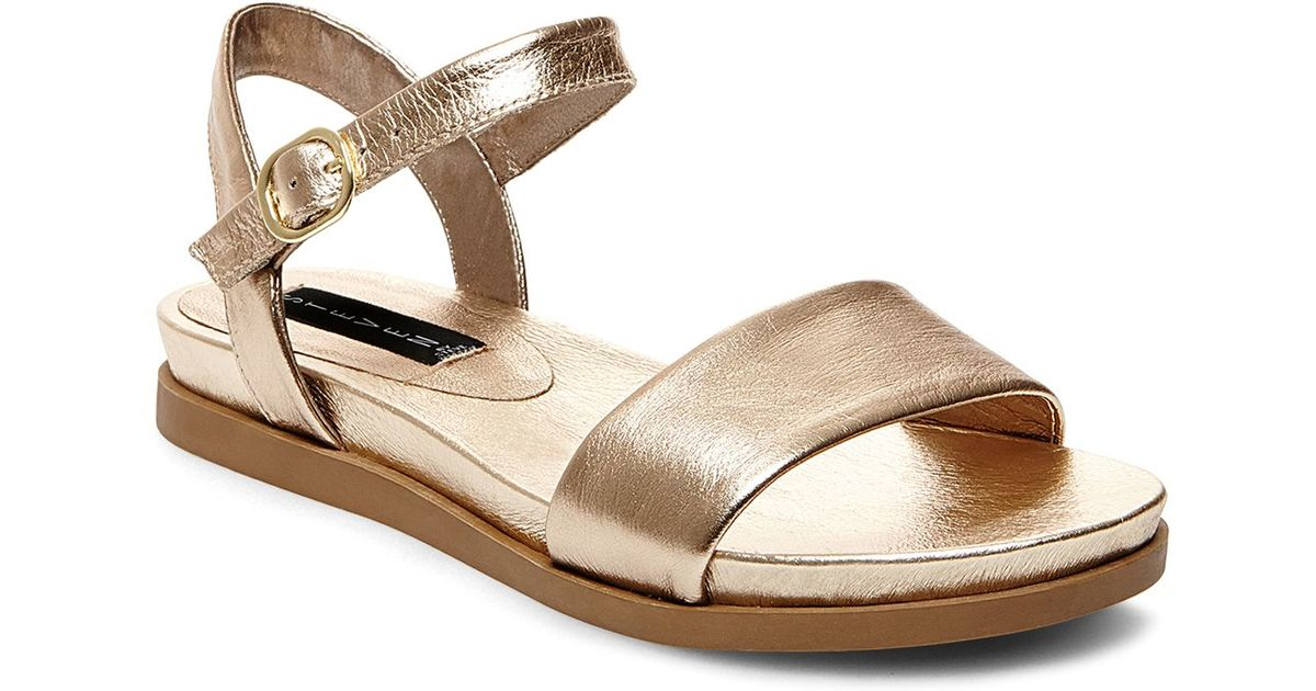 eb7476945f3 Lyst - Steven by Steve Madden Ankle Strap Sandals - Karli Metallic in  Metallic