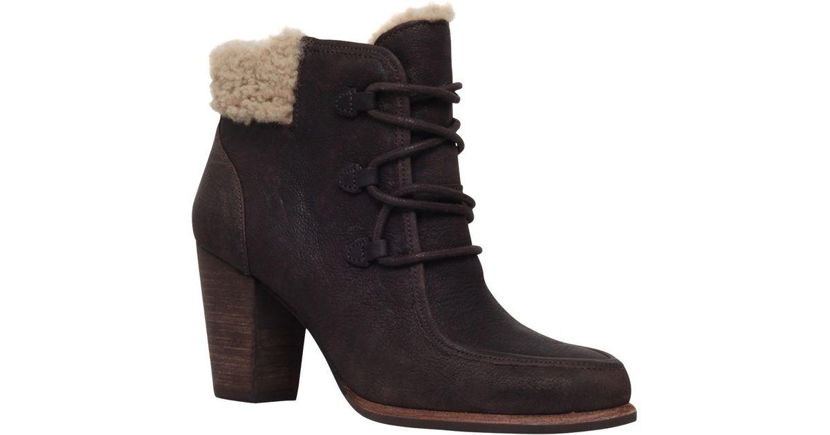 4f8b2b8c11c spain ugg high heel ankle boots 80900 dfd08