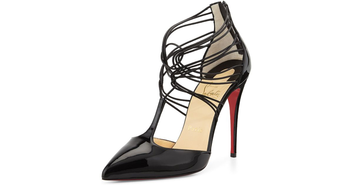 ba6e7f649fca Lyst - Christian Louboutin Confusa Patent Leather Red Sole Pump in Black