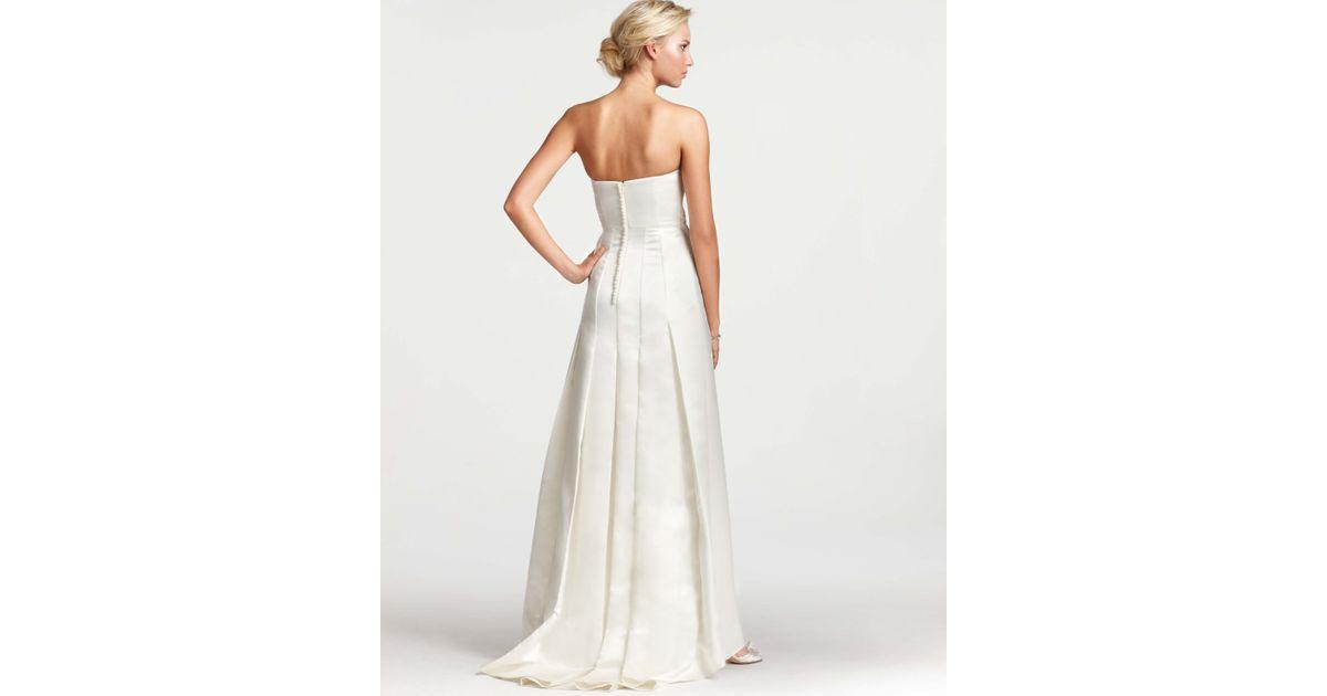 Lyst - Ann Taylor Layla Duchess Satin Strapless Wedding Dress in White