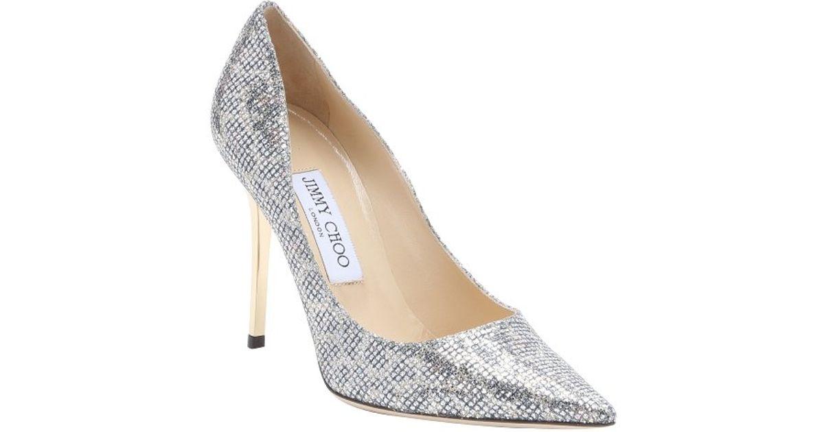 b8f9dffd0e7 ... uk lyst jimmy choo champagne leopard print glitter fabric abel stiletto  pumps in metallic a4854 3ad71