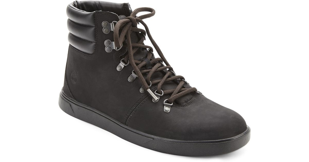 b8c4a231b4a9b Timberland Black Groveton Alpine Hiking Boots in Black for Men - Lyst